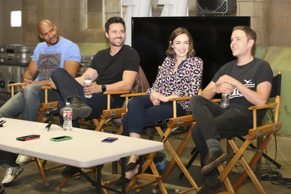 (l-r) Simmons, Dalton, Henstridge, and De Caestecker
