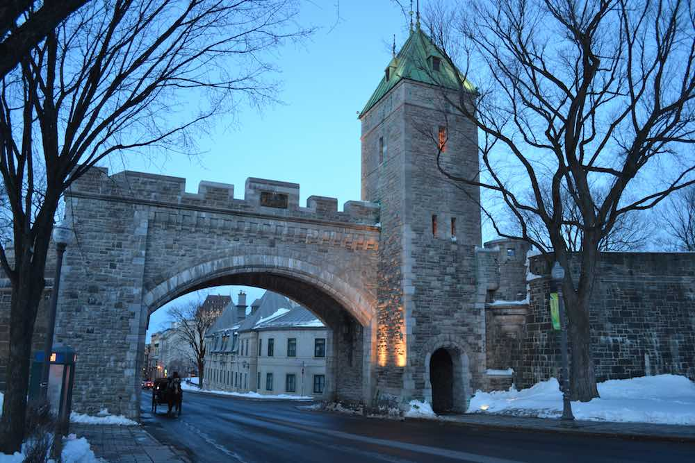 old fortifications in Quebec City
