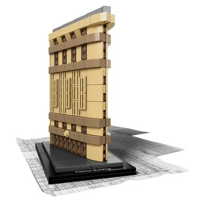 lego architecture goes flat for the flatiron building - geekdad