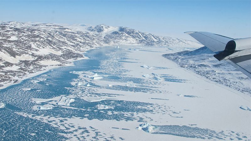 A frozen fjord. Photo: Public Domain
