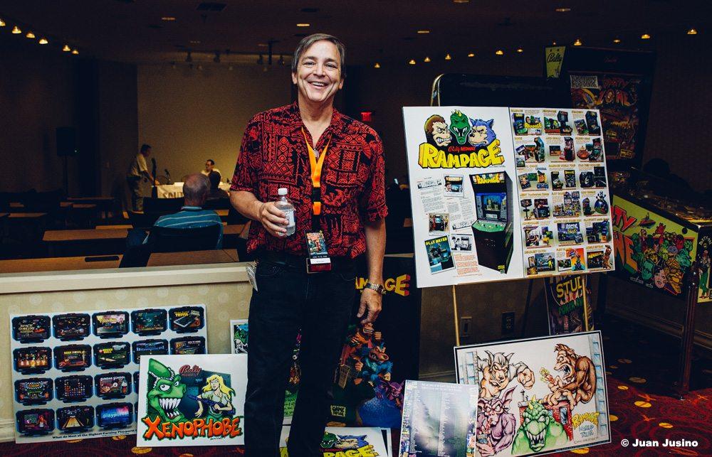 'Rampage' Creator Brian F. Colin at Atlanta's Southern-Fried Gameroom Expo. Photo Copyright: Juan