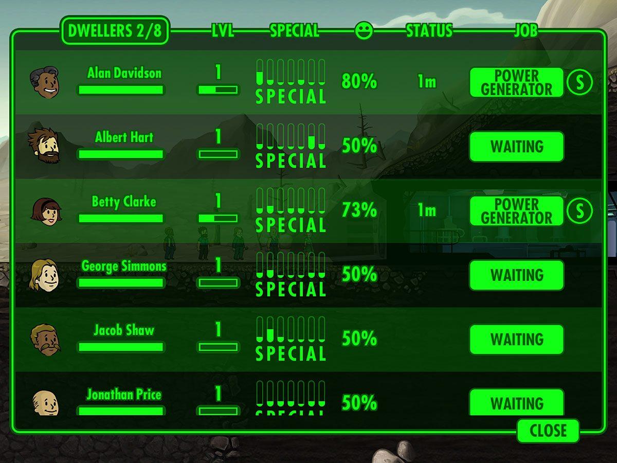 FalloutShelter-DwellerList