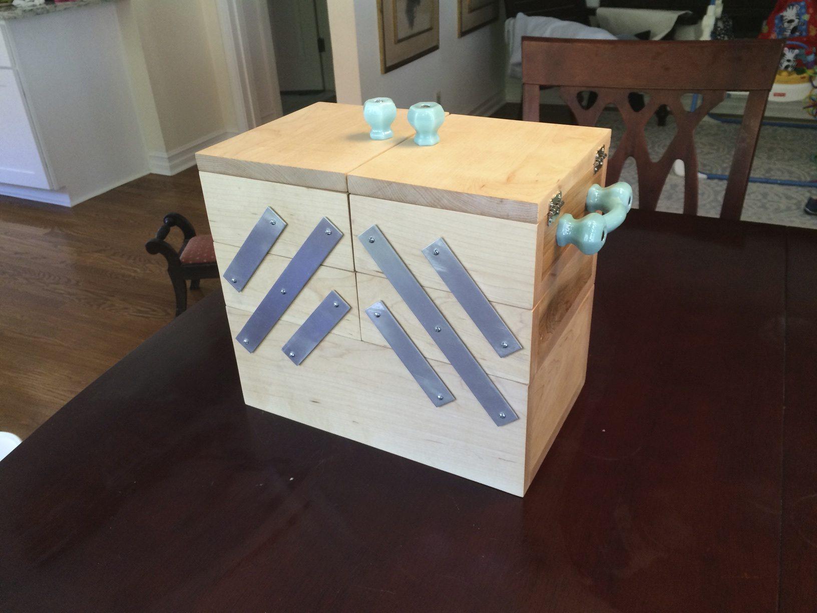 Making a Folding Sewing Box