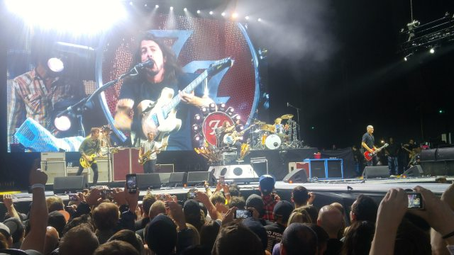 Foo Fighters on Stage in Toronto