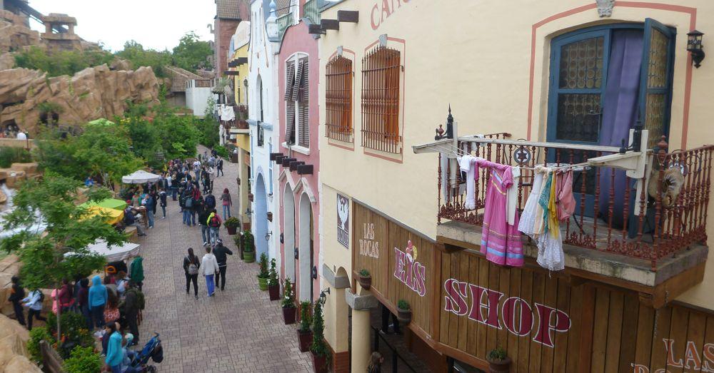 A view of Phantasialand's Mexico