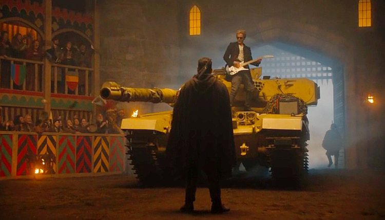 Doctor on Tank with Guitar