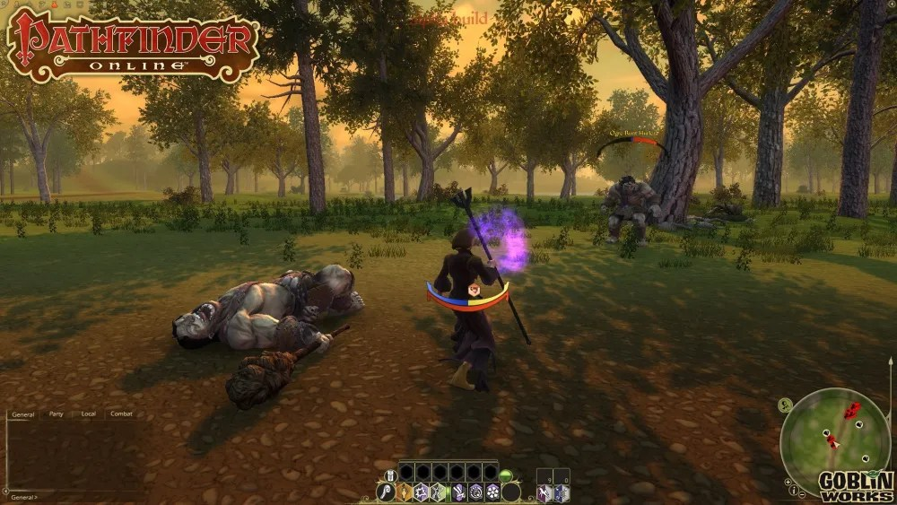 Mage attacking ogre