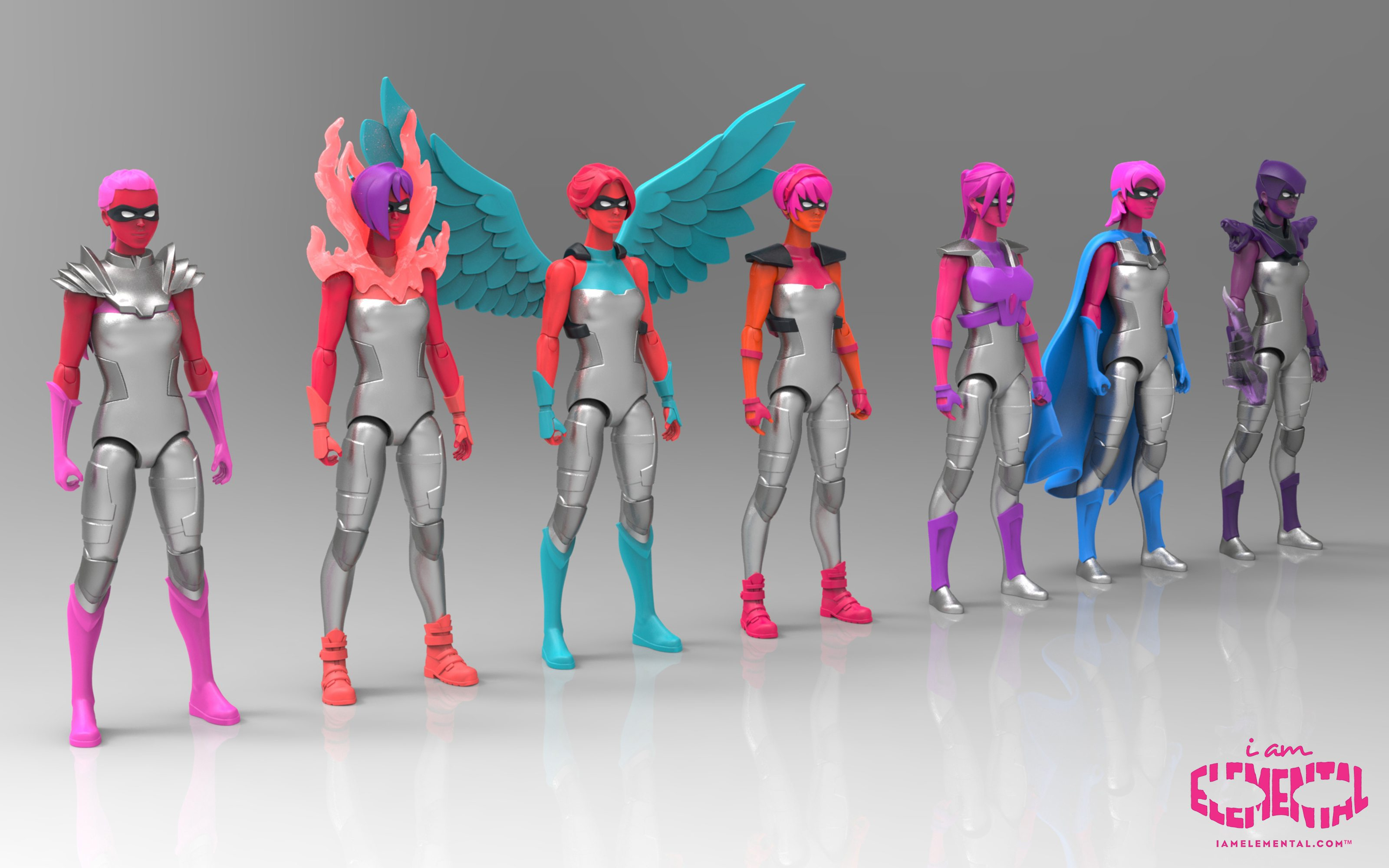 iAmElemental: Female Action Figures for Boys and Girls
