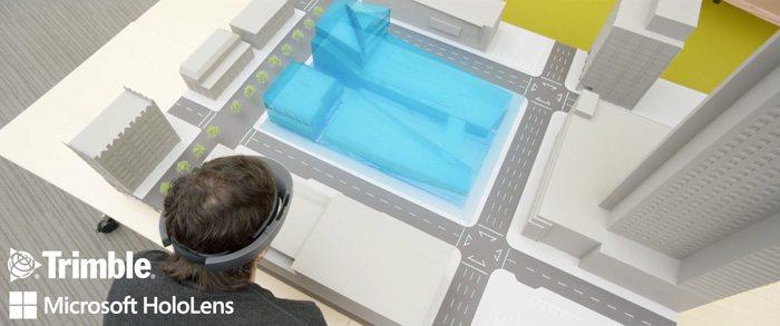 Microsoft HoloLens and Trimble Software image