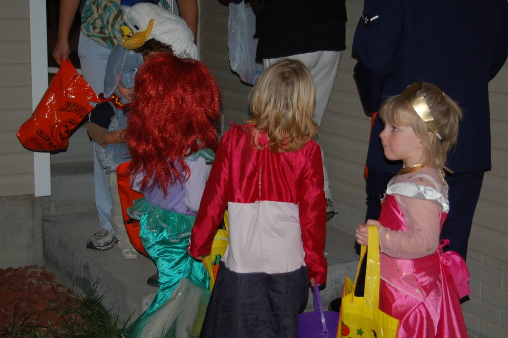 Fearless little princesses taking back the night. Photo by Wht_wolf9653, used under Creative Commons license.