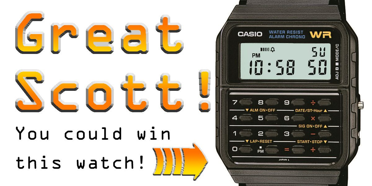 Casio CA53W-1 calculator watch