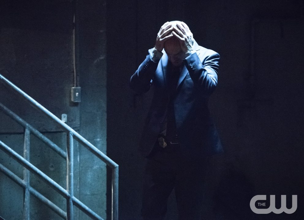 "Arrow -- ""Beyond Redemption"" -- Image AR405B_0347b.jpg -- Pictured: Paul Blackthorne as Quentin Lance -- Photo: Dean Buscher/ The CW -- �© 2015 The CW Network, LLC. All Rights Reserved."