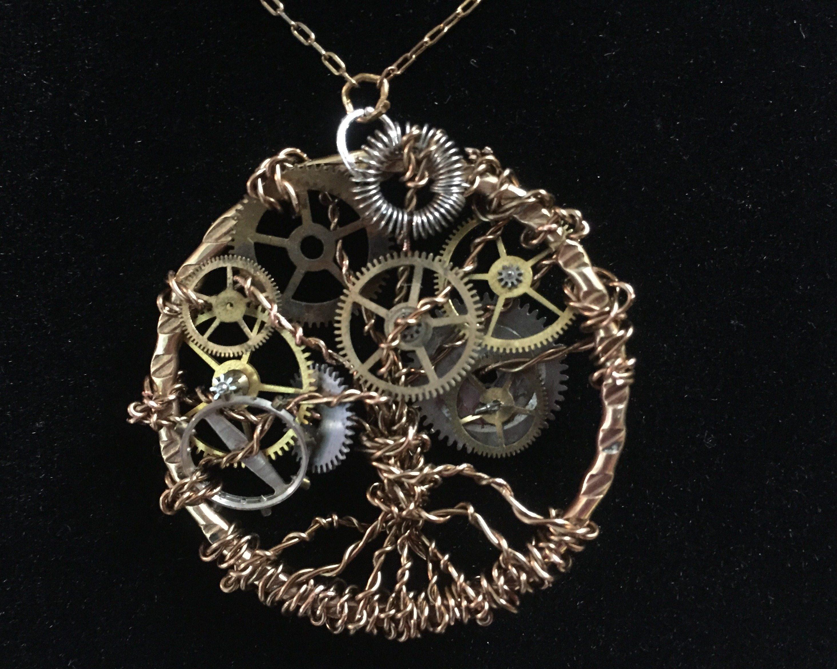Steampunk Tree of Life Pendant