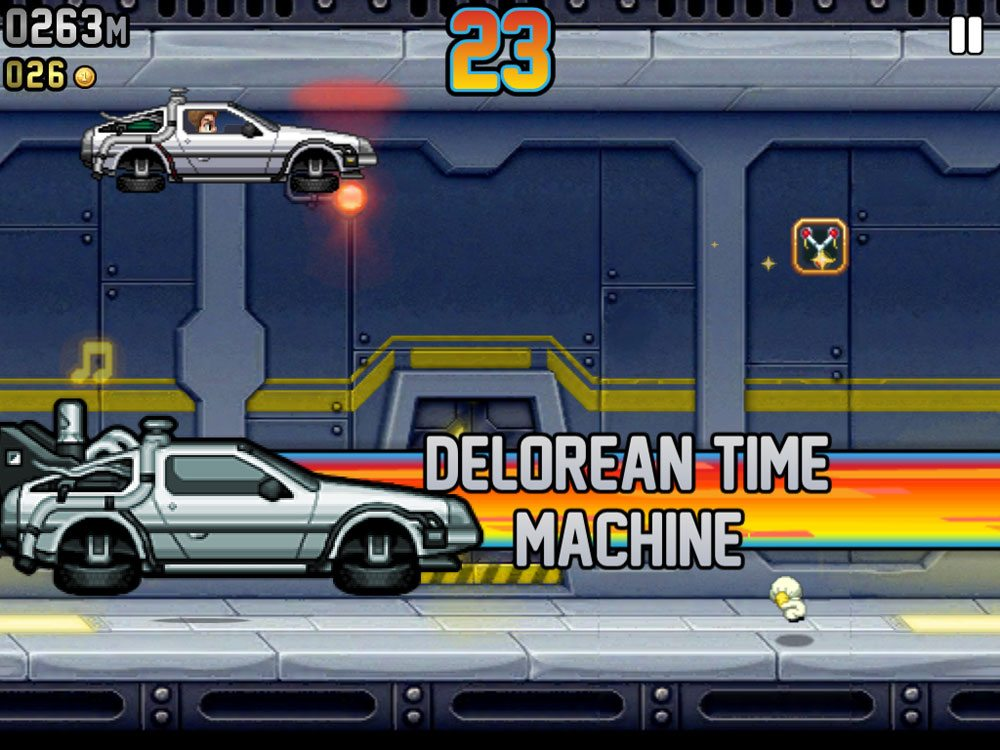 Jetpack Joyride Delorean