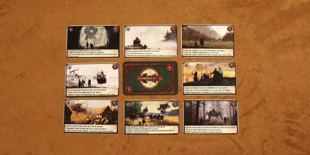 A sampling of Encounter cards. (Components not final.)