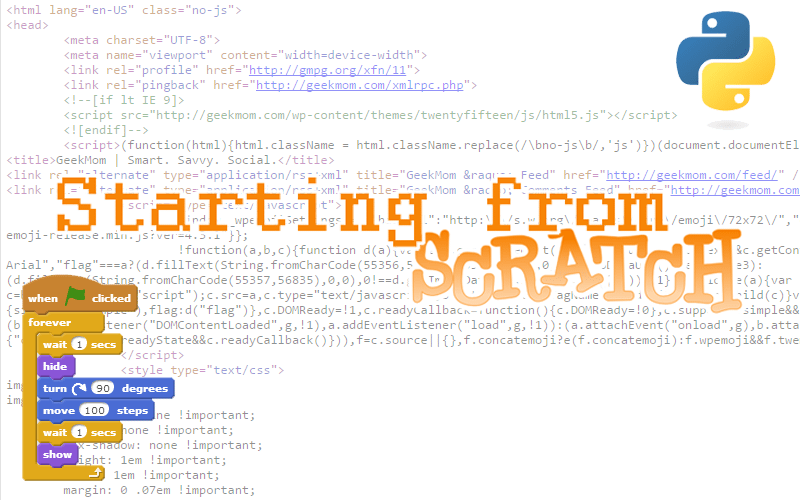 Starting from Scratch © Sophie Brown (Scratch and Python Logos used under Creative Commons License 2.0)