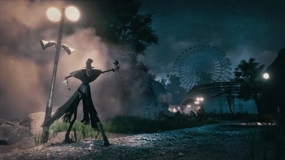 A mysterious figure haunts the grounds of Atlantic Island Park. Image provided by Funcom