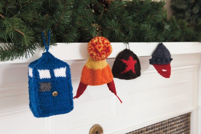Geek Knits Nerdy Holiday Ornaments Joan of Dark Toni Carr Knit Picks