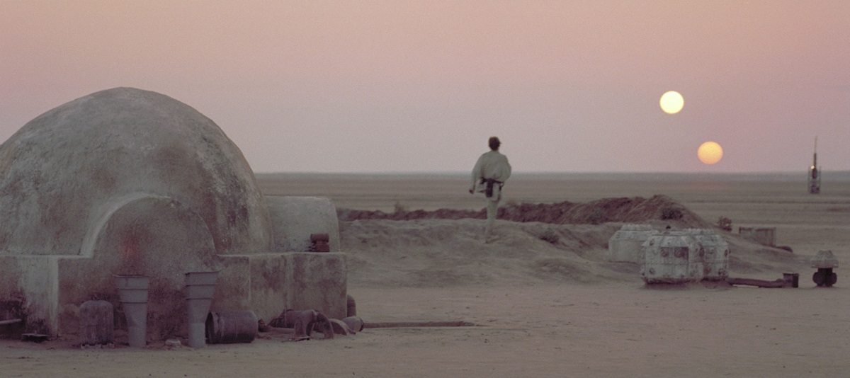 Binary sunset over Tatooine