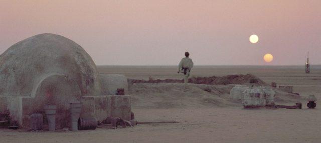 Binary sunset over Tatooine