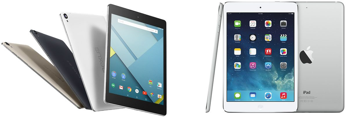 Nexus 9 and iPad Mini: Good, solid mid-range tablets
