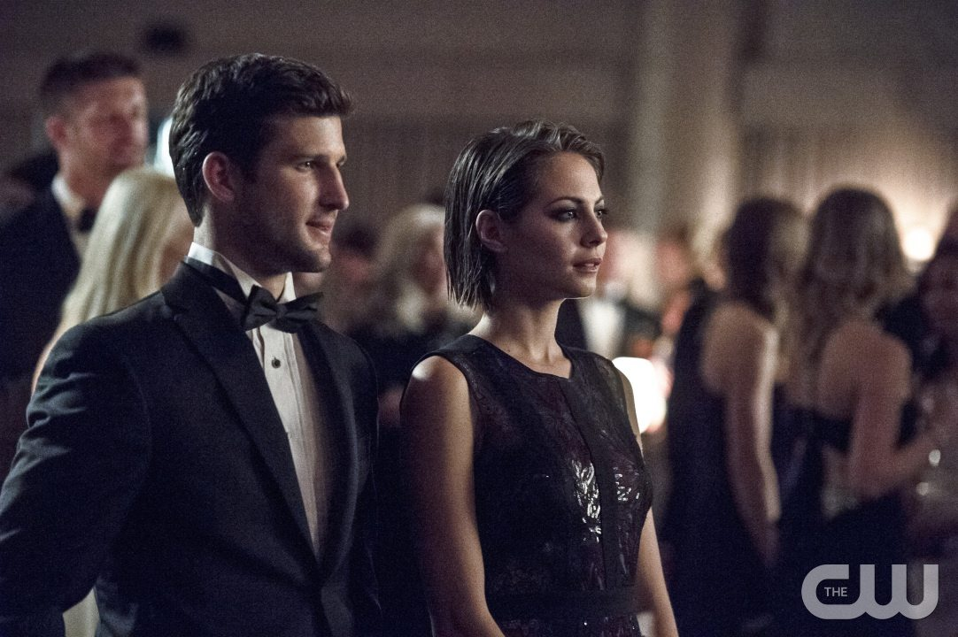 "Arrow -- ""Brotherhood"" -- Image AR407B_087b.jpg -- Pictured (L-R): Parker Young as Alex Davis and Willa Holland as Thea Queen -- Photo: Cate Cameron/The CW -- �© 2015 The CW Network, LLC. All Rights Reserved."