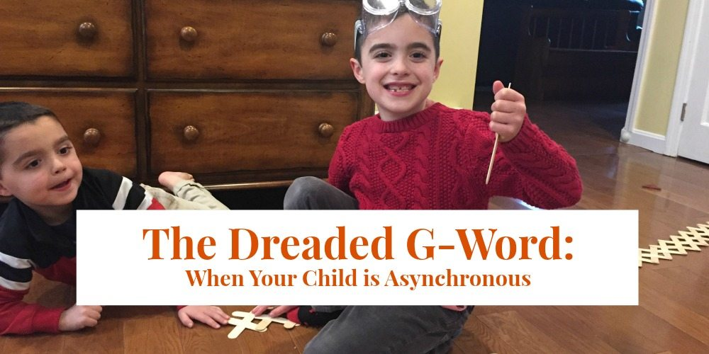 The Dreaded G-Word: When Your Child is Asynchronous