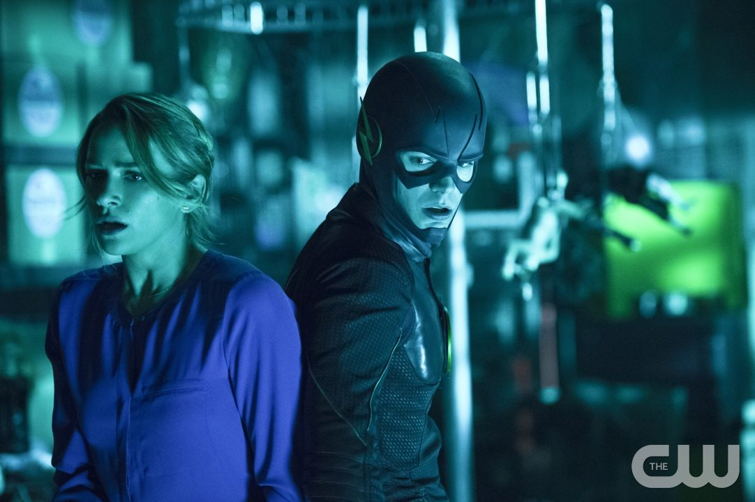"The Flash -- ""Running to Stand Still"" -- Image: FLA209A_0288b.jpg -- Pictured (L-R): Shantel VanSanten as Patty Spivot and Grant Gustin as The Flash -- Photo: Cate Cameron/The CW -- �© 2015 The CW Network, LLC. All rights reserved."
