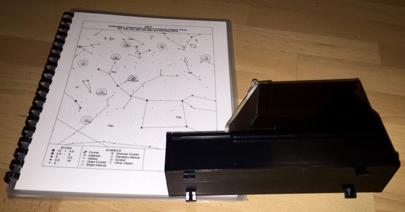 TelRad View Finder with Printed Star Charts - Photo by Skip Owens