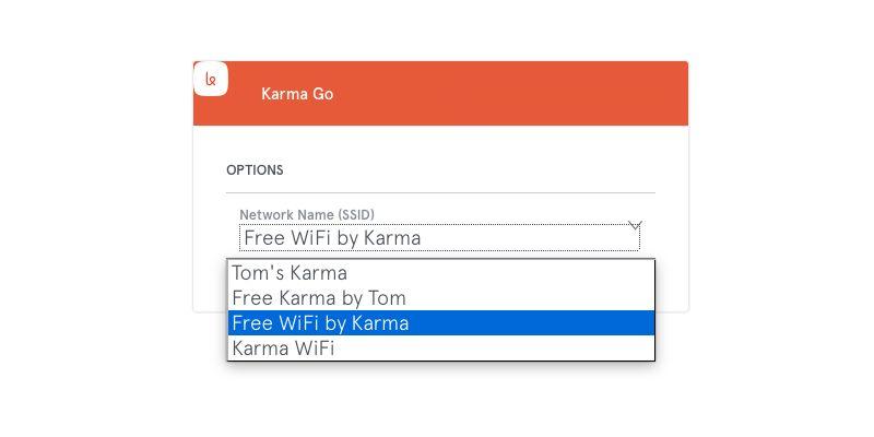 Karma Go SSID Selection