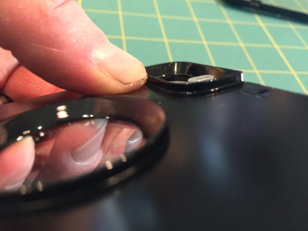 Lens plate on an unaltered Otterbox Defender.