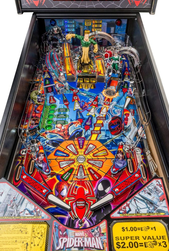 Ultimate Spider-man pinball playfield by Stern Pinball
