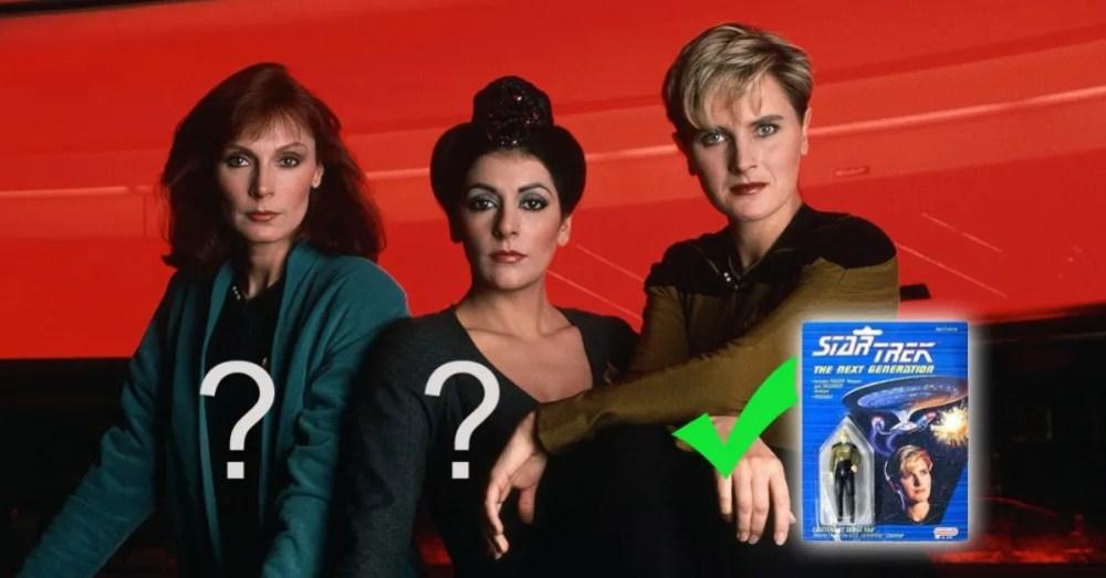 Star Trek Crusher, Troi, and Yar
