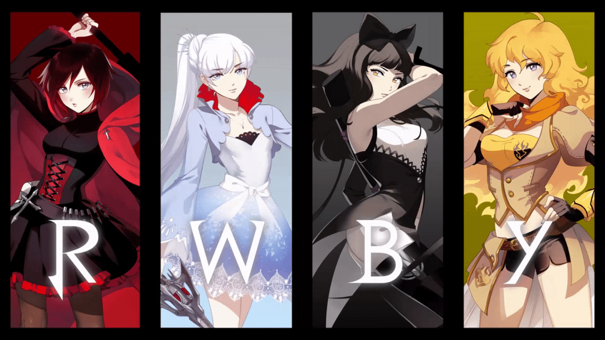 RWBY by Rooster Teeth Studios.
