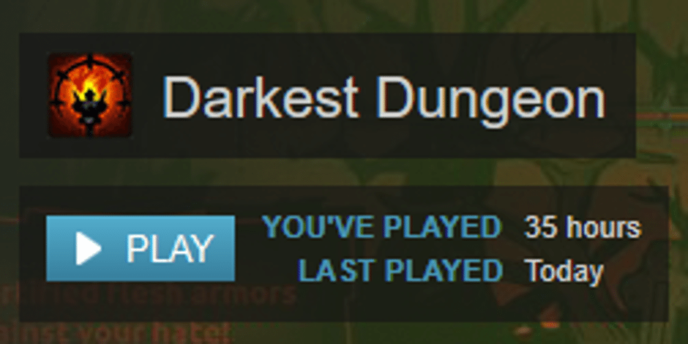 Steam data showing author's play time at 35 hours.