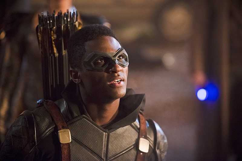 "DC's Legends of Tomorrow -- ""Star City 2046"" -- Image LGN106b_0363b.jpg -- Pictured: Joseph David-Jones as Connor Hawke / Green Arrow -- Photo: Diyah Pera/The CW -- �© 2016 The CW Network, LLC. All Rights Reserved."