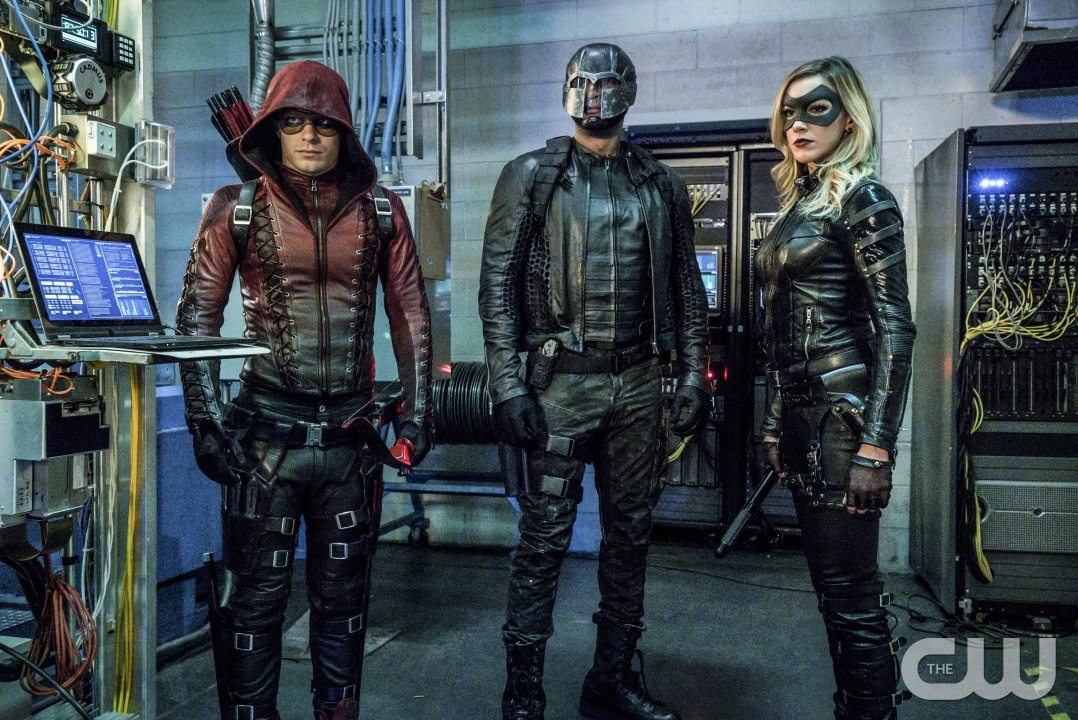 "Arrow -- ""Unchained"" -- Image AR412A_0089.jpgb -- Pictured (L-R): Colton Haynes as Arsenal, David Ramsey as John Diggle and Katie Cassidy as Black Canary -- Photo: Liane Hentscher/ The CW -- �© 2016 The CW Network, LLC. All Rights Reserved."