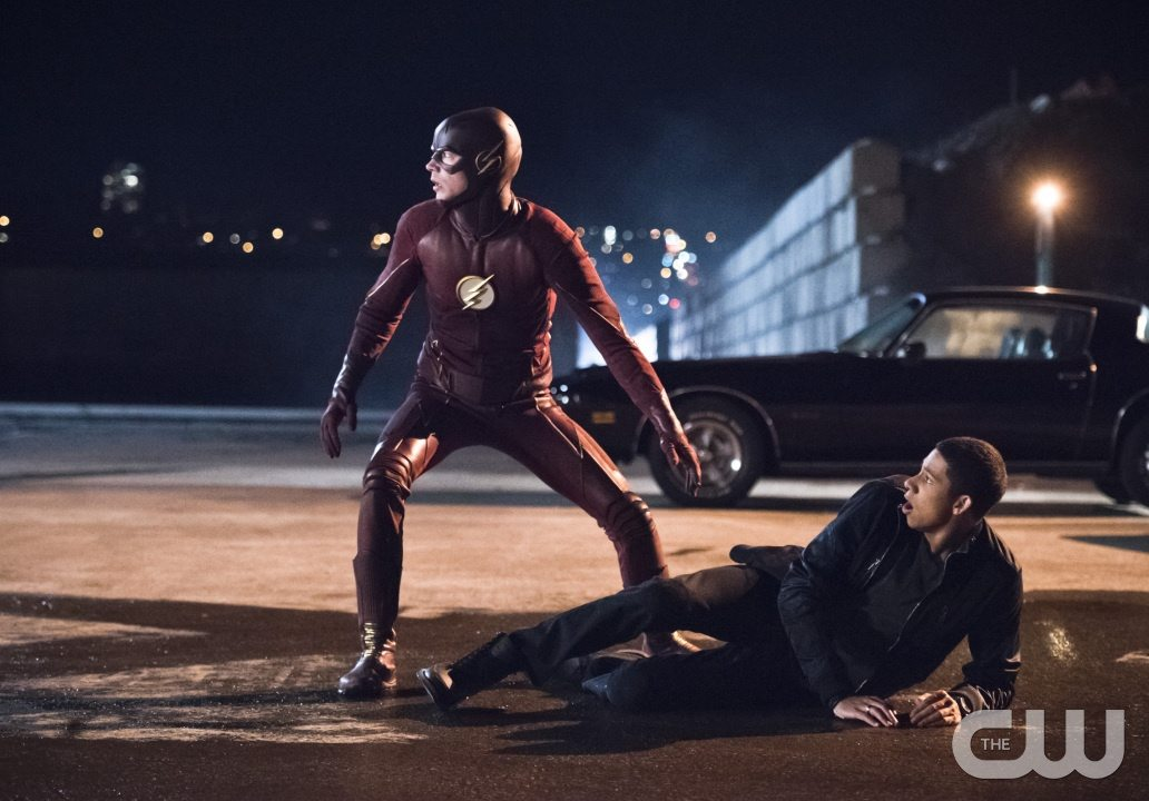 "The Flash -- ""Fast Lane"" -- Image: FLA212A_0038b.jpg -- Pictured (L-R): Grant Gustin as The Flash and Keiynan Lonsdale as Wally West -- Photo: Dean Buscher/The CW -- �© 2016 The CW Network, LLC. All rights reserved."