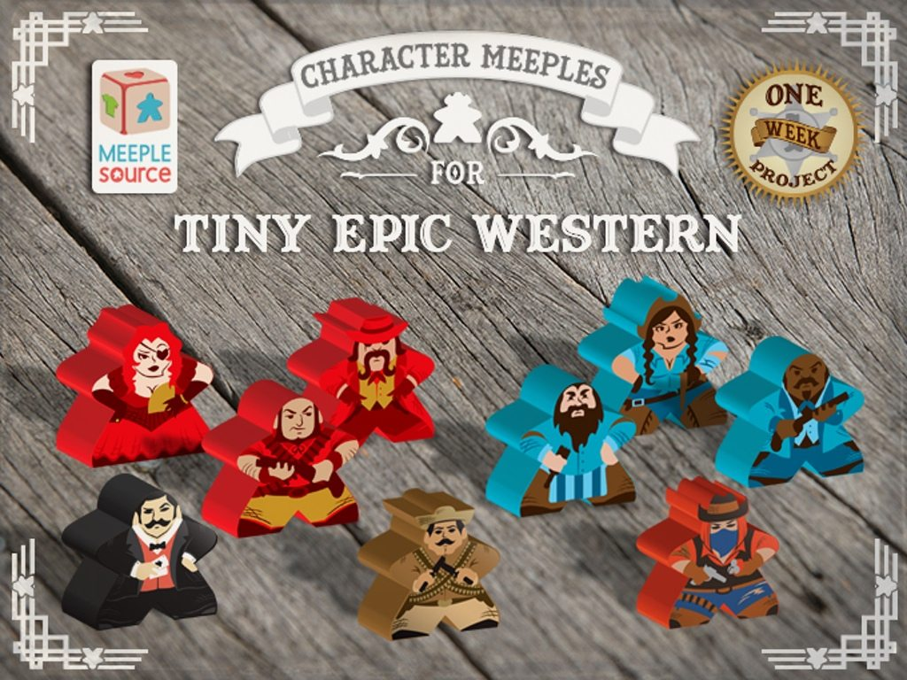 Tiny Epic Western Meeples