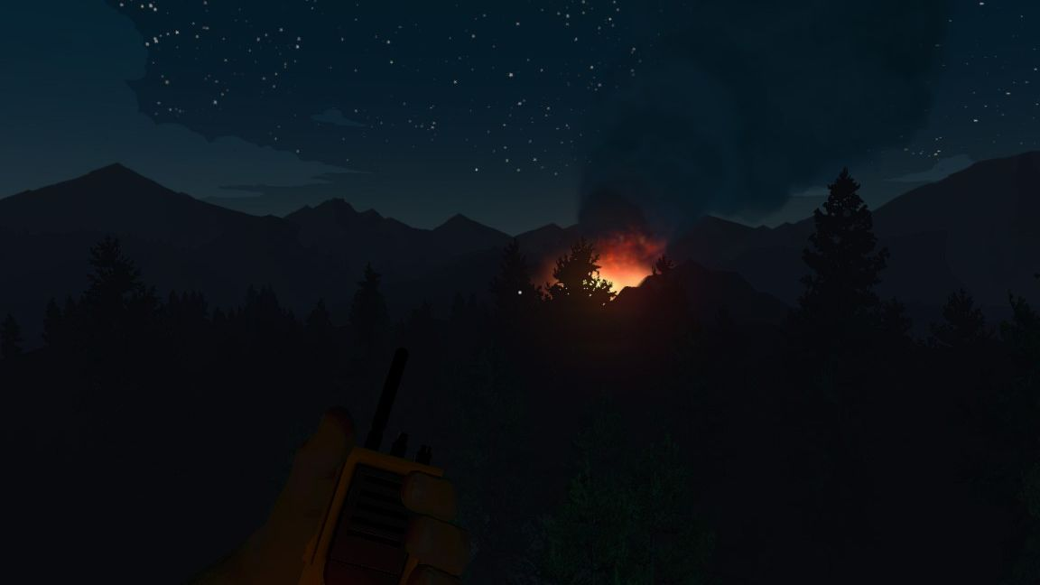 The fire in Firewatch