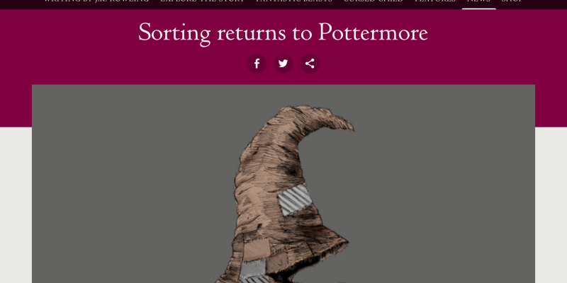 Social Identity: Why It's Not Silly To Be Upset if Pottermore Changed Your House