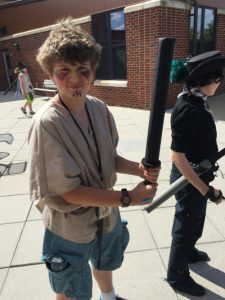 "My son Isaac, posing with his ""sword."""