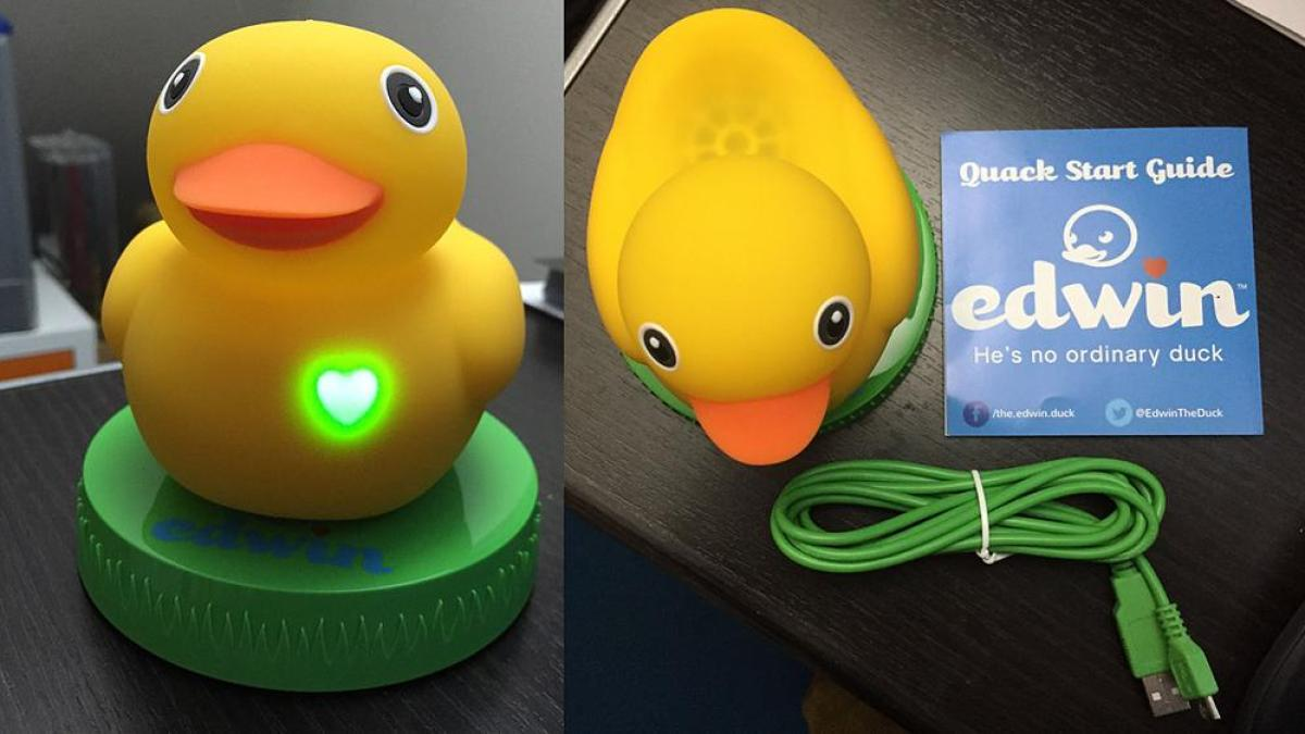 First to review yellow rubber duck click here to cancel reply - Edwin The Duck From Pi Lab Is A Real Rubber Ducky 2 0 Bringing Water Toy Nightlight Motion Based Play And Smart Phone Games And Reading Together In One