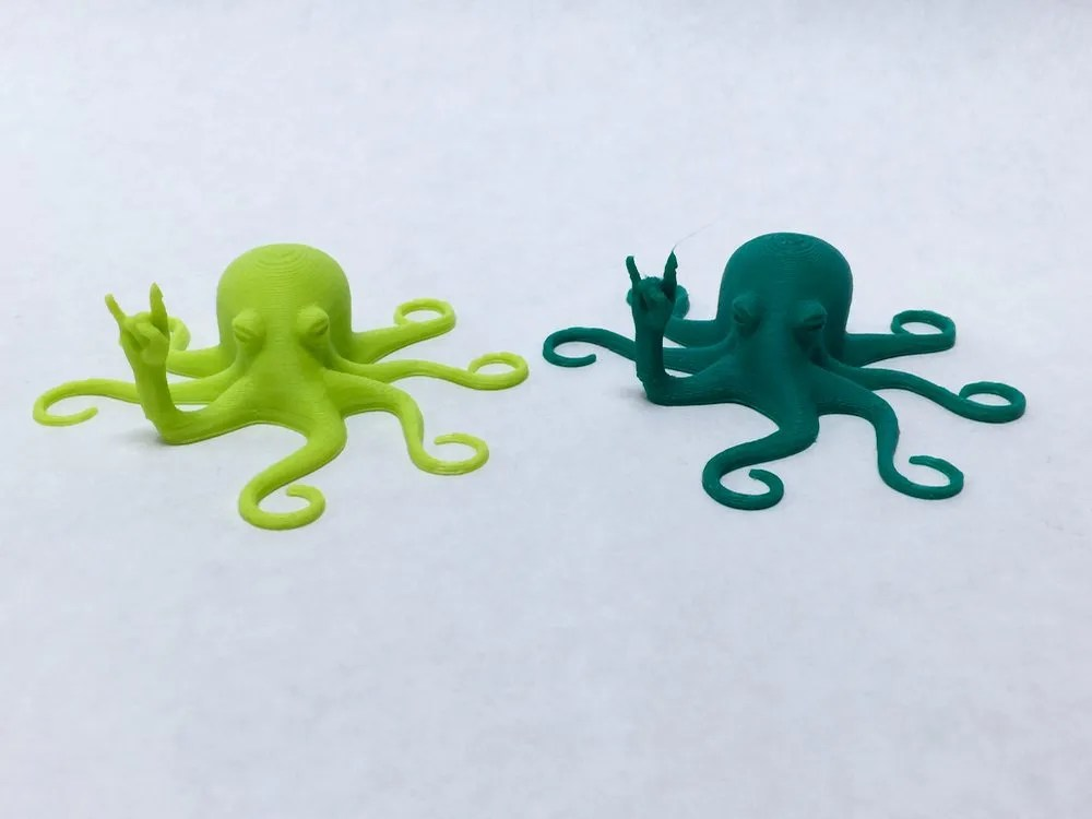 Before and after octopus prints.