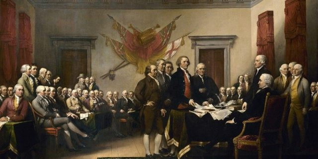 Image Public Domain John Trumbull's Declaration of Independence