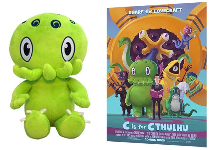 Cthulhu plush and poster