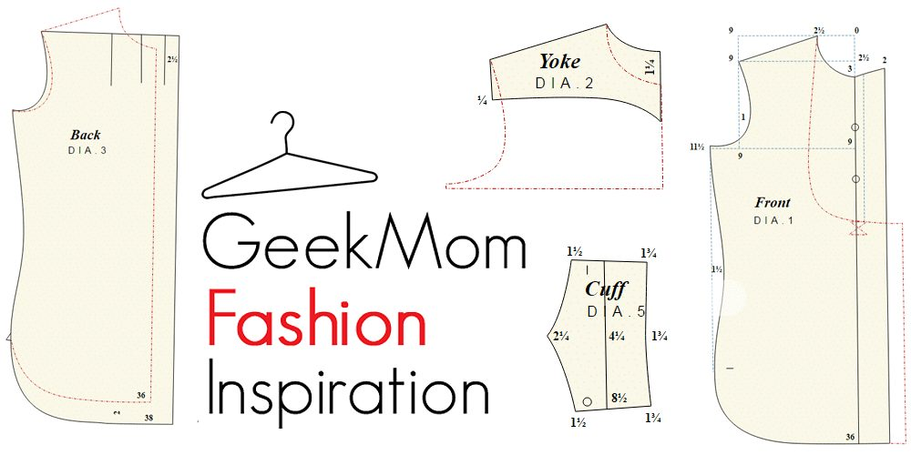 """This work is a derivative of """"Shirt System Sewing Pattern"""" by Jembezmamy, used under CC 3.0 by Sophie Brown"""