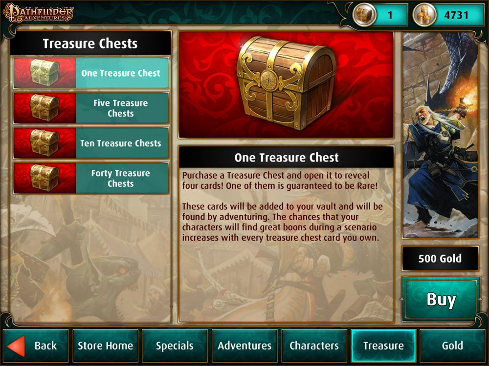 Pathfinder Adventure Treasure Chests