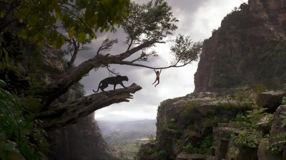 Image with permission by Disney / THE JUNGLE BOOK (Pictured) BAGHEERA and MOWGLI. ©2016 Disney Enterprises, Inc. All Rights Reserved.