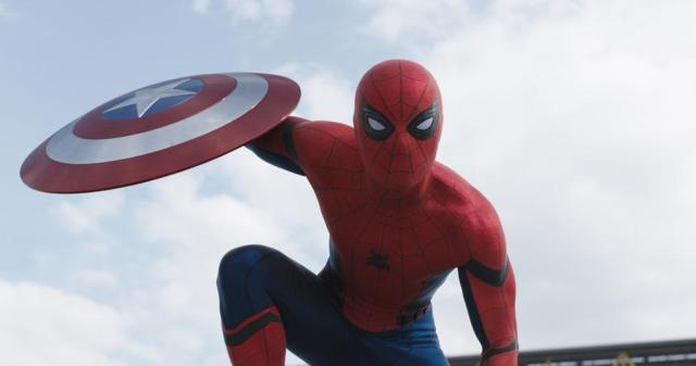 "Spider-Man (Tom Holland) joins ""Team Iron Man"" Photo Credit: Film Frame © Marvel 2016"